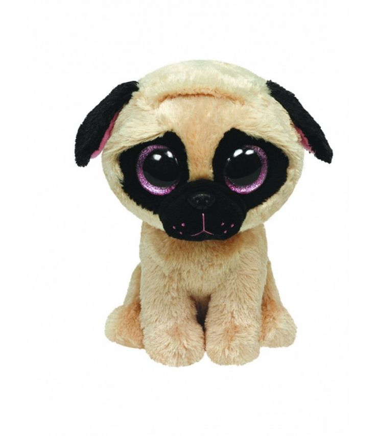 "TY UK 6"" Pugsley Beanie Boo 6inch Soft Toy. Beanie Boos"