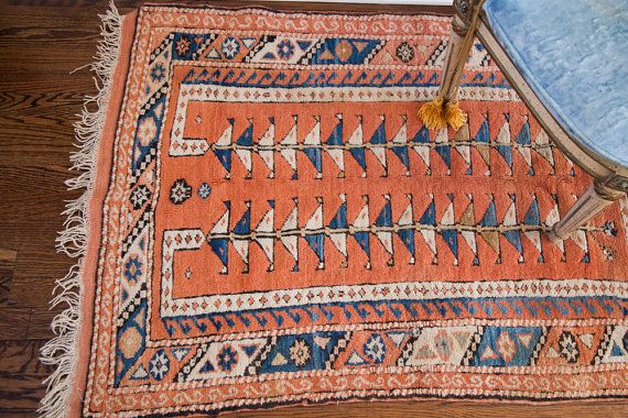 Sweet Terra Cotta Vintage Turkish Rug in East Flatbush, Brooklyn ~ Apartment Therapy Classifieds