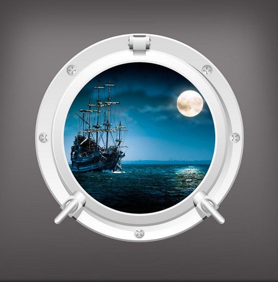 Hey, I found this really awesome Etsy listing at https://www.etsy.com/listing/223410458/pirate-ship-porthole-wall-sticker-mural