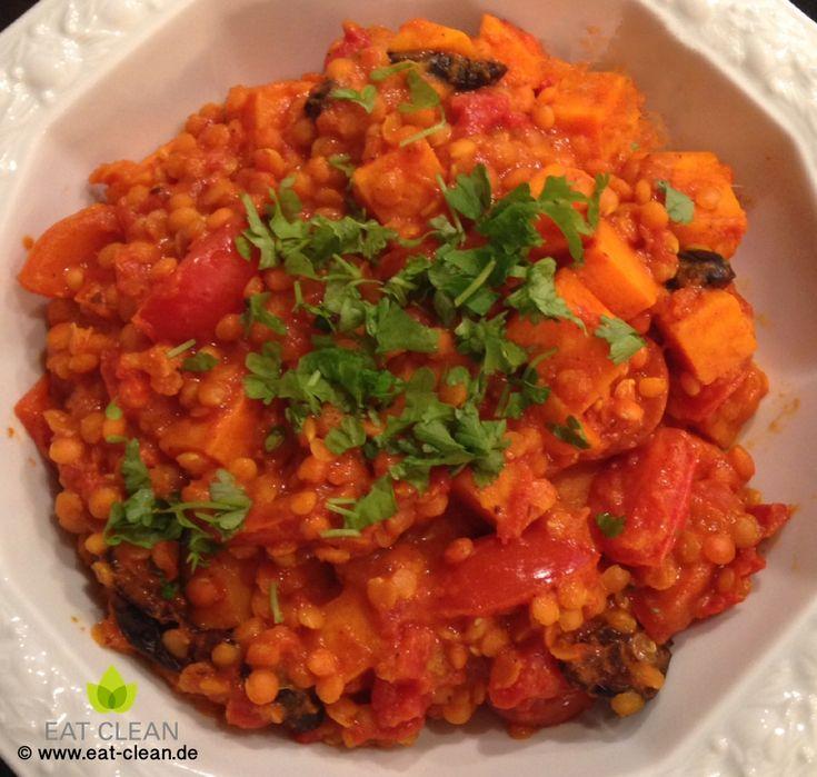 Linsencurry mit Tomaten und Süßkartoffeln | EAT CLEAN