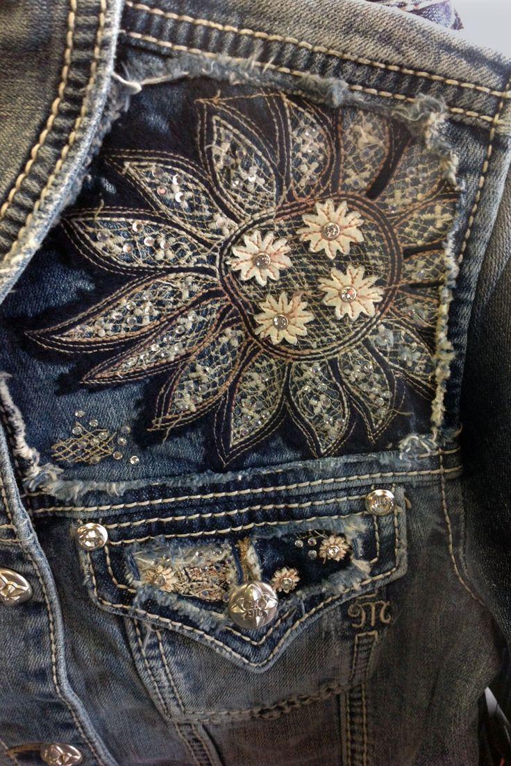 ༻✿༺ ❤️ ༻✿༺ Miss Me Jeans Womens Cropped Denim Jacket ༻✿༺ ❤️ ༻✿༺