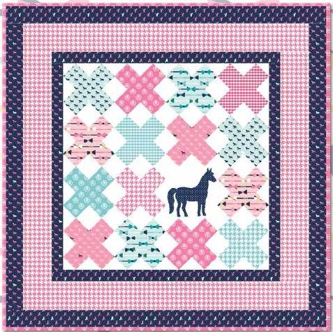 Beginner Quilt Patterns For Baby : = free pattern = Off to the Races quilt, 54x54?, by Melissa Mortenson for Riley Blake Designs ...