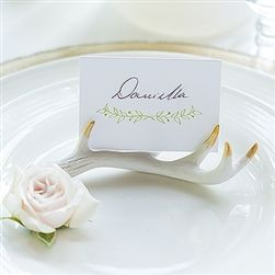 Miniature Faux Antler Stationery Place Card Holders