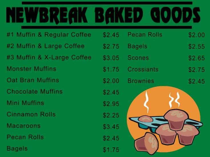 Custom Bakery Menu Board : Front