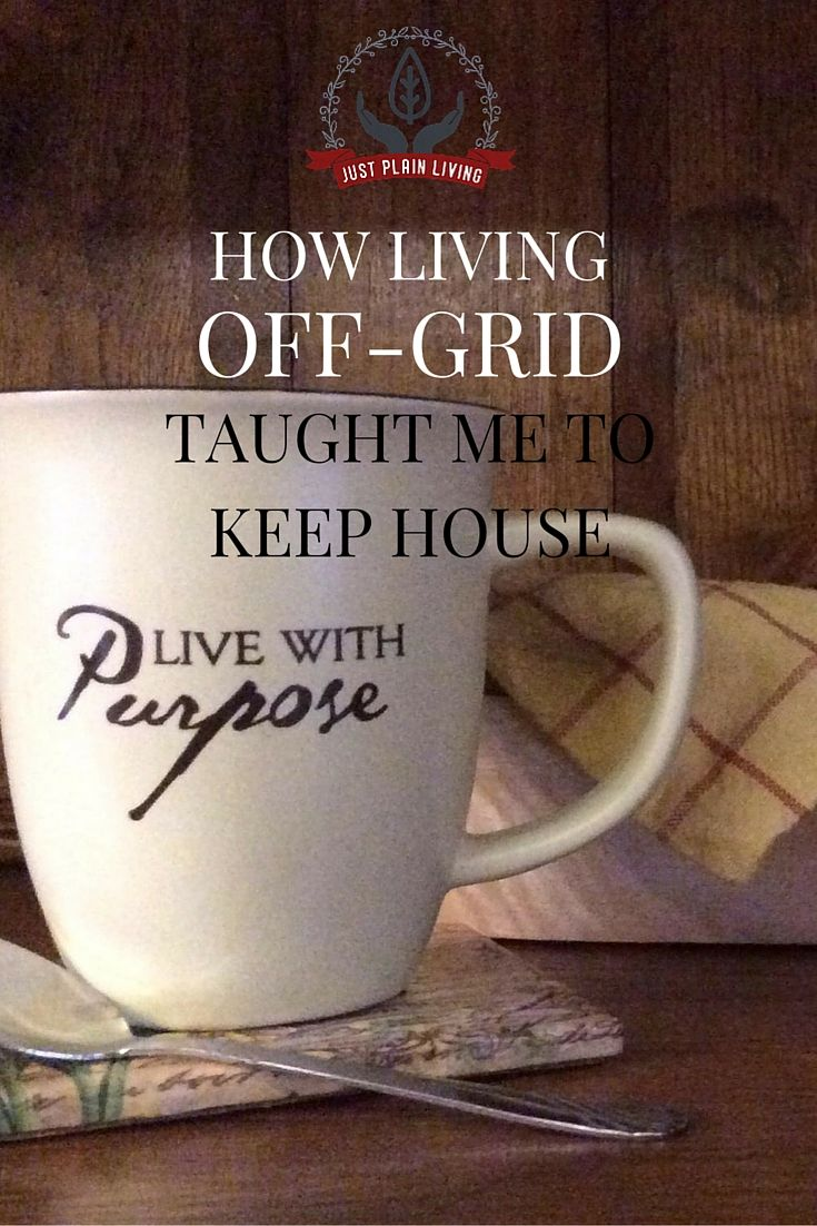 After three years of keeping house without electricity or running water, I spent a week doing housework at a friend's house in town. Here is what I learned about getting the housework done.