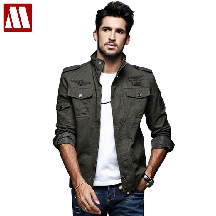 Cheap mens bomber jacket, Buy Quality men bomber jacket brand directly from China brand men jacket Suppliers: New Brand Mens Bomber Jacket 2017 Jacket Mandarin Collar Solid Men's Jackets and Coats Plus Size Green Army Jacket MYDBSH