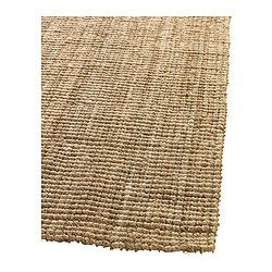 """This jute rug is fabulous.  Neutral, cheap, and very warm/nature/etc. TÅRNBY Rug, flatwoven - 5 ' 11 """"x8 ' 2 """" - IKEA"""