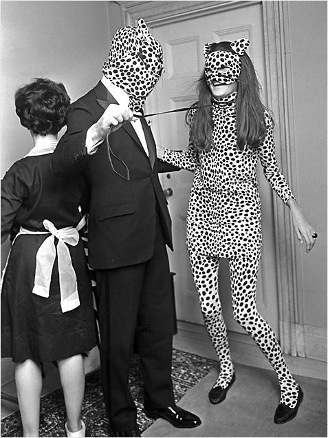 leopard people, 1966, larry c. morris. yep, i think this is a strong contender for a halloween costume this year. minus the creep cat man and leash...