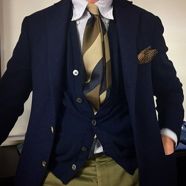 「MH trialling a great new twill quality for our ties. Drake's button-down shirt」