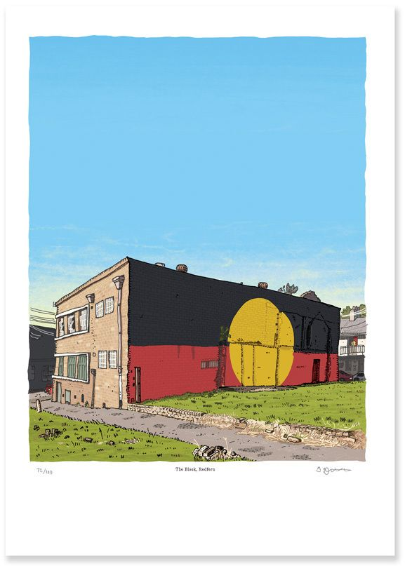 Image of The Block, Redfern, Limited Edition Digital Print.  Mister Trevor Dickinson