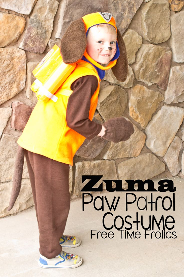 Zuma, Paw Patrol basic DIY costume for preschoolers. Easy to make and fun to wear. Zuma jet pack diy paw patroller dress up or halloween