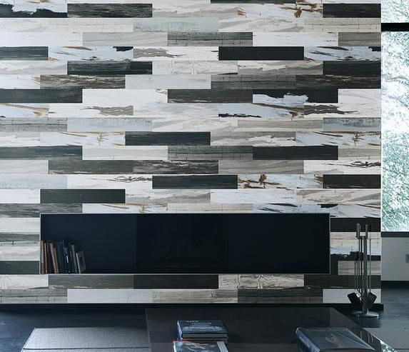Timber look tiles with high variation