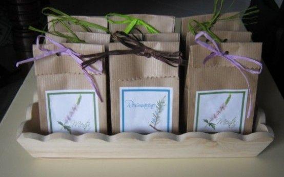 C A 3 sacchetti in carta pane per bulbi, semi , confetti