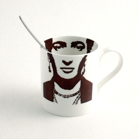 Frida Kahlo Skeleton Bone China Mug Tea or by MoreThanPorcelain, €22.00