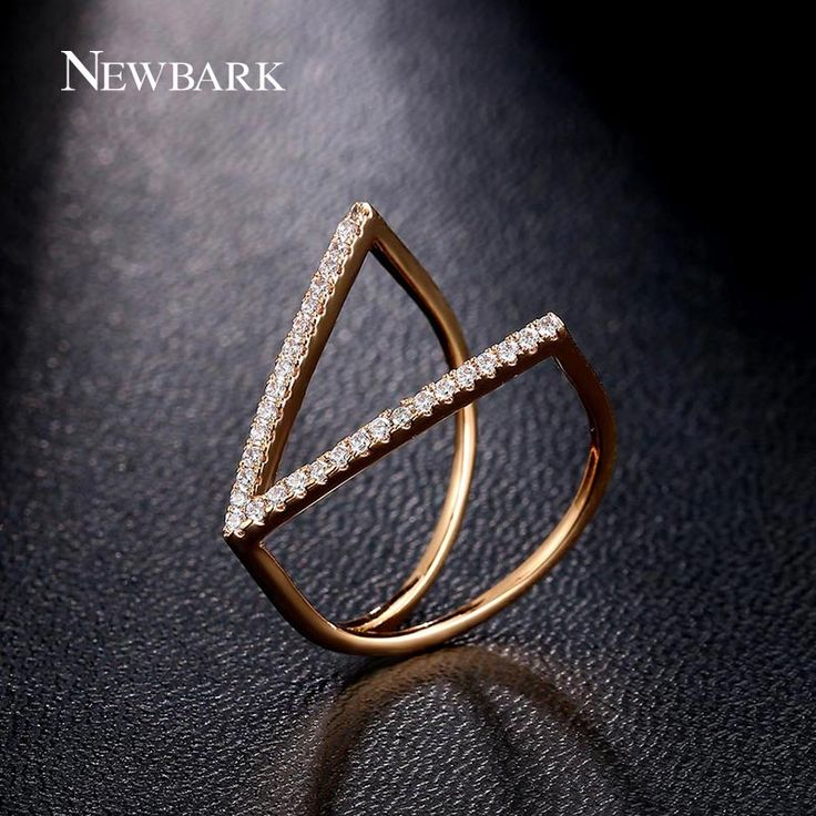Find More Rings Information about NEWBARK Fashion Accessories Jewelry Ring Unique V Shape Geometric Rings Paved Micro Cubic Zirconia Punk Party Anillos,High Quality ring tower,China jewelry sun Suppliers, Cheap jewelry spinner rings from Newbark Official Store on Aliexpress.com