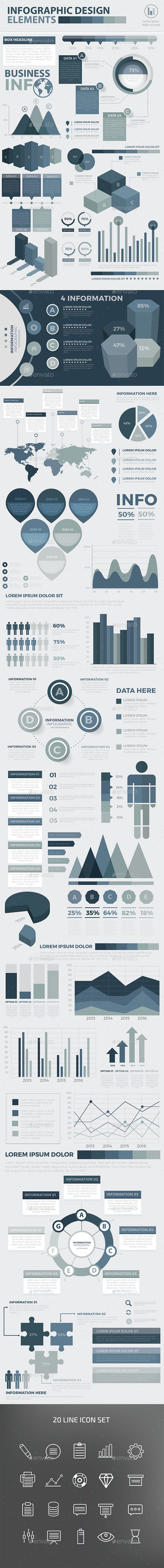 Modern Infographic Elements Design Template Vector EPS, AI Illustrator. Download here: http://graphicriver.net/item/modern-infographic-elements-design/16480725?ref=ksioks
