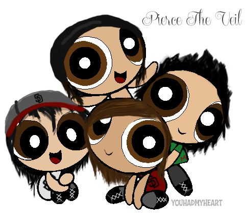 pierce the veil in power puff girl form!!!! OMG!!!!