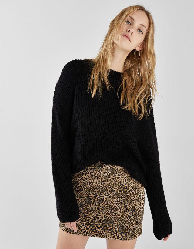 7635d4d95 Leopard print skirt - Bershka  bershka  newin  trends  outfits  look  moda   fashion  skirt  falda  woman  style  stylish  miniskirt  minifalda   leather ...