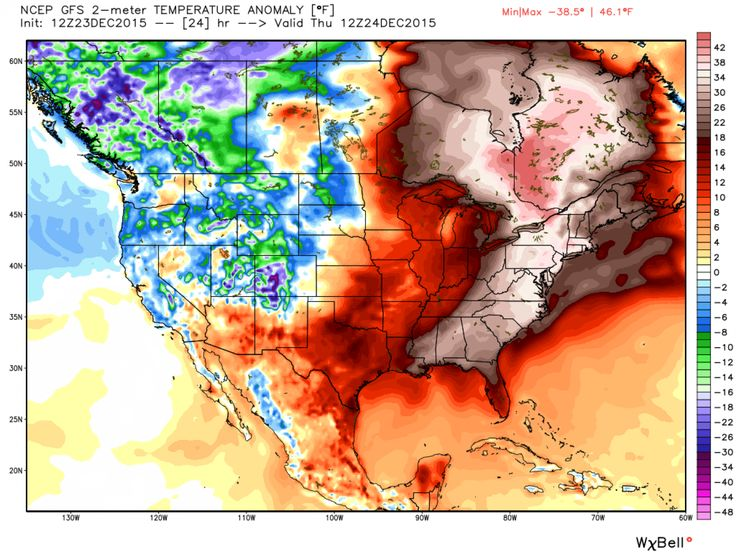 2015: Scores of eastern U.S. cities to shatter Christmas Eve warm weather records... The anomalous warmth forecast Christmas Eve fits right into a December that will rank as warmest on record for much of the northeastern U.S. into the Mid-Atlantic. - The Washington Post
