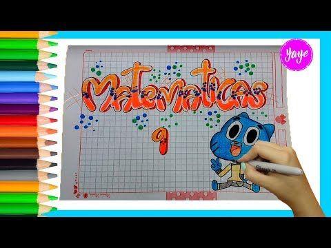 IDEAS PARA MARCAR TUS CUADERNOS-Cómo hacer portada de matemáticas con letra TIMOTEO - YouTube