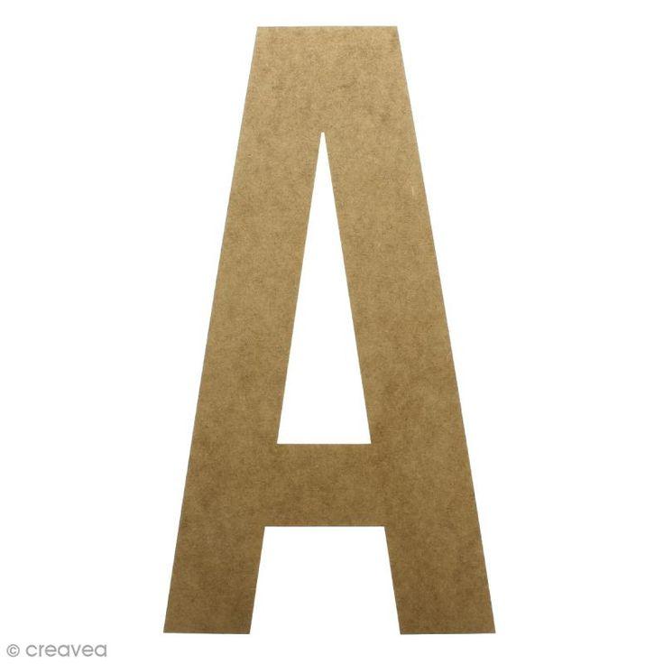 Compra nuestros productos a precios mini Letra de madera gigante 50 cm - A - Entrega rápida, gratuita a partir de 89 € !