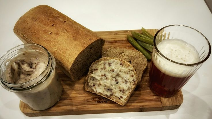 Homemade bread and craft beer