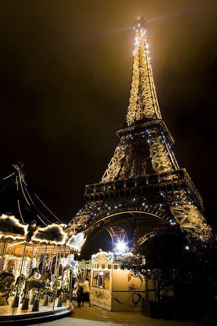 Carousel And Eiffel Tower, Paris
