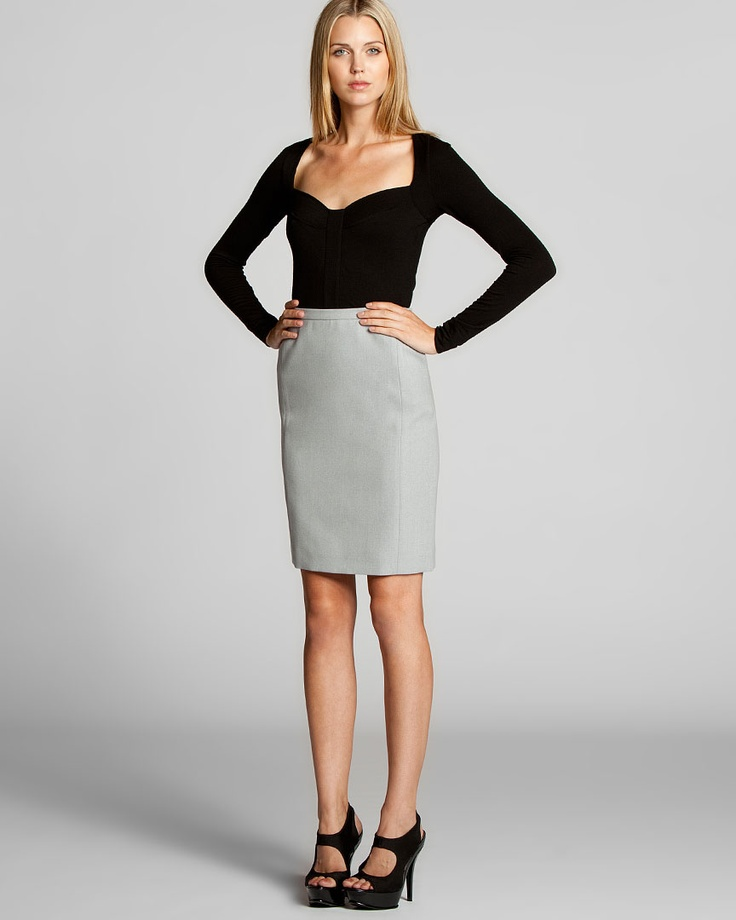 Love that top, and always have a thing for pencil skirts.: Curve Con, Pencil Skirts, Vostre Curve, Top