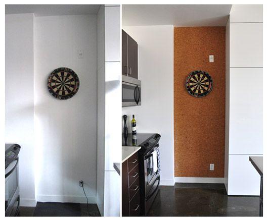 Real People Living in Condos: DIY Cork Board Wall   Blog   HGTV Canada