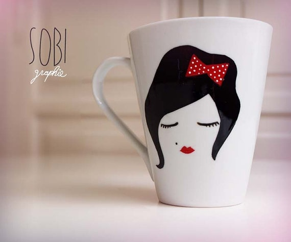 Mug Hand Painted by Sobigraphie