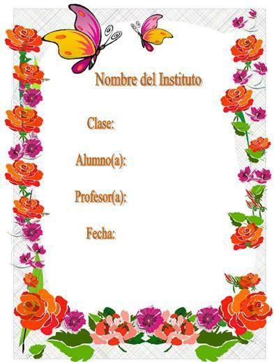 Pin de enma lucia paredes ochoa en membretes caratulas for Modelo de proyecto de plantas ornamentales