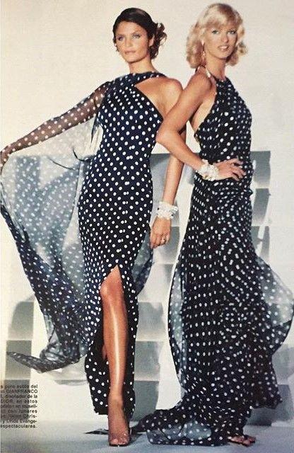 Linda Evangelista & Helena Christensen - Christian Dior Spring/Summer…