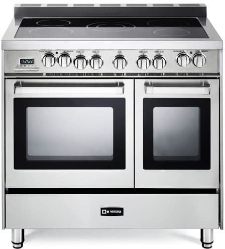 verona 36 inch double oven electric range with 39 cu ft total oven