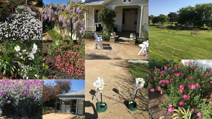 Beautiful gardens at Ballam Park Homestead is the perfect place for a wedding!
