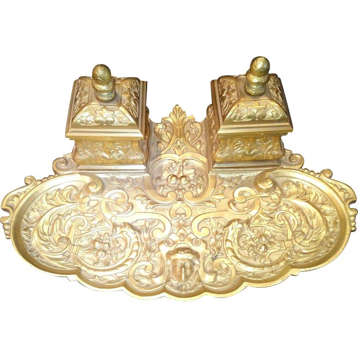 French Bronze Ormolu Inkwell