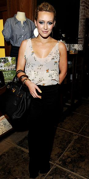 Hilary Duff - Look of the Day - InStyle...with nude undergarments though