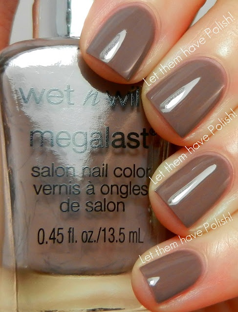Wet 'n' Wild Megalast Nail Color - wet cement. I love wet 'n wild nail polishes. Less than a buck and a ton of colors, as well as staying power.