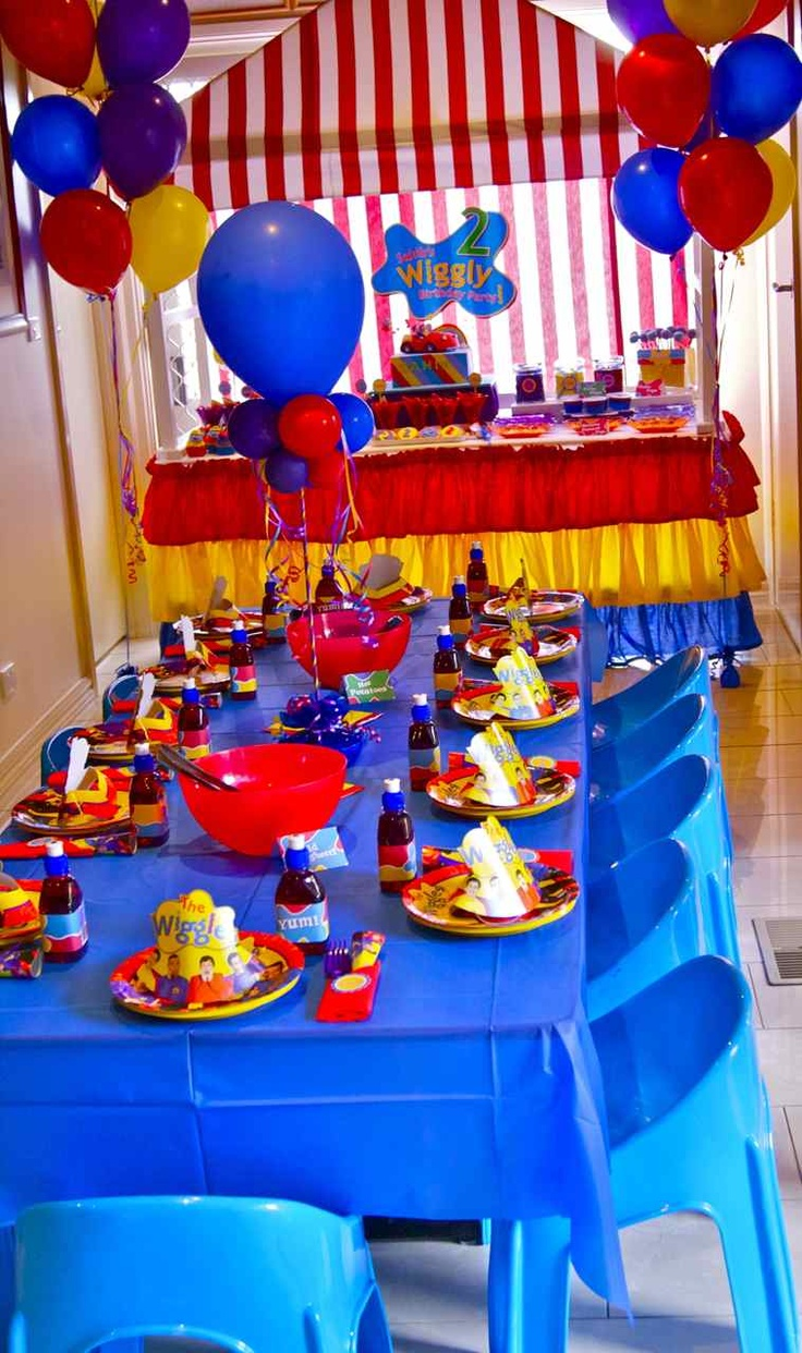 Wiggles Themed Party
