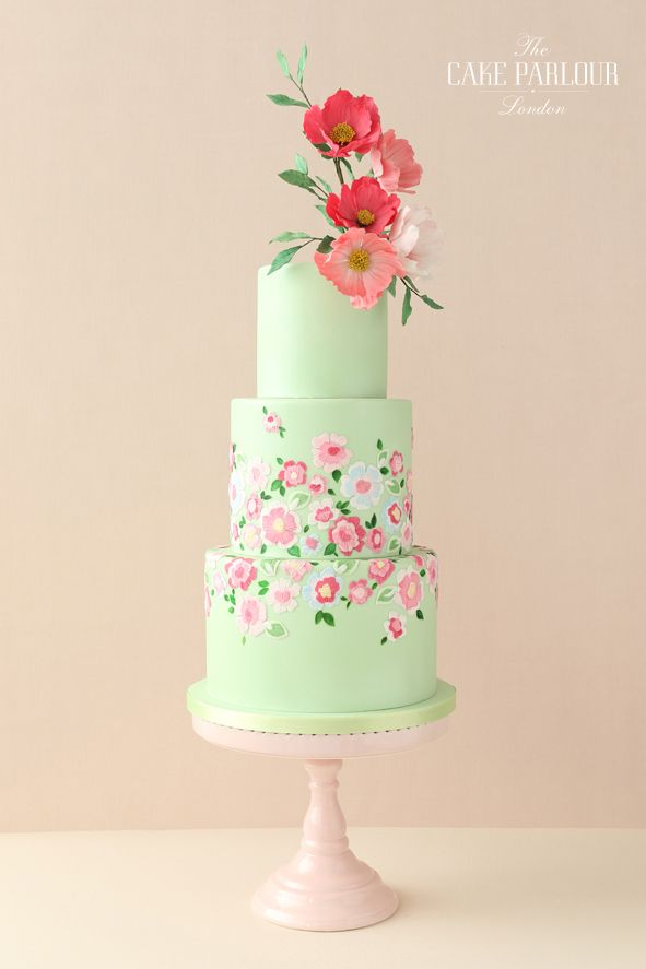 Beautiful bespoke award-winning wedding cakes designed and created with love by Zoe Clark and her team at The Cake Parlour.