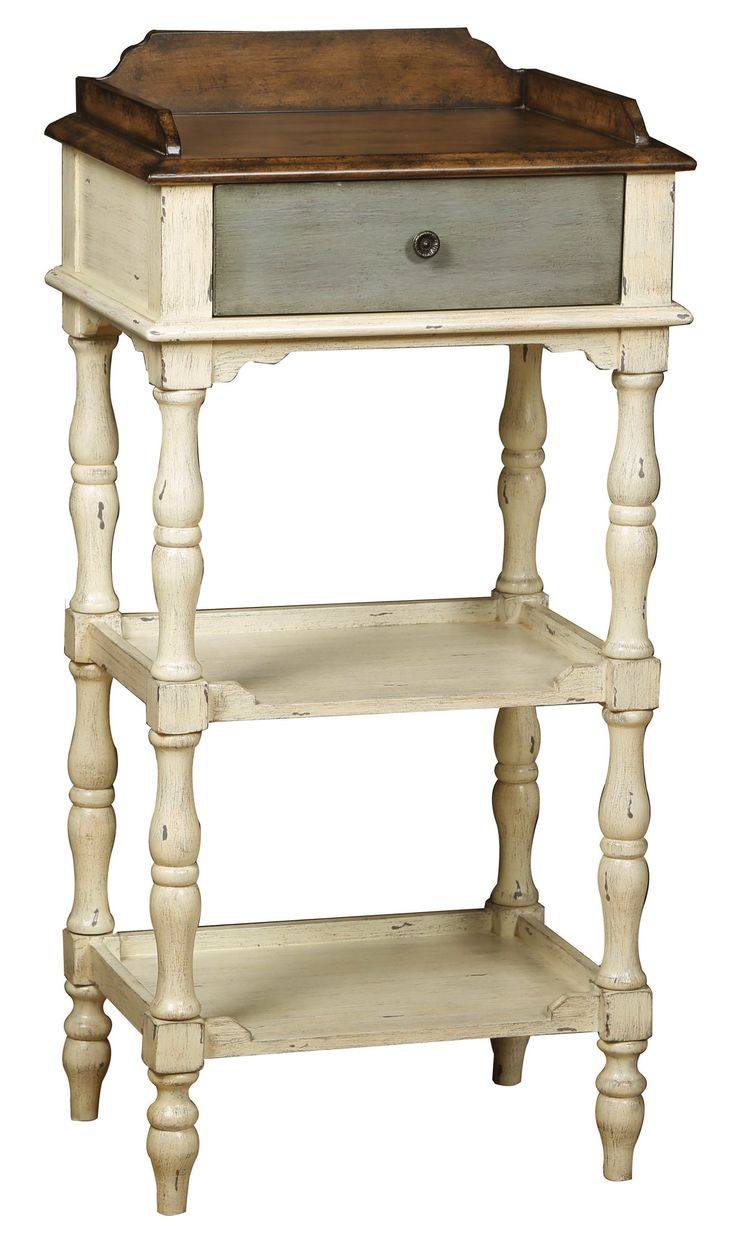 Accents Colbert Accent Table in Aged White
