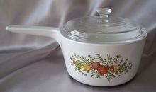 Corning Ware Spice Of Life Ranger Topper 1-1/2 Quart Pan With Pyrex Lid