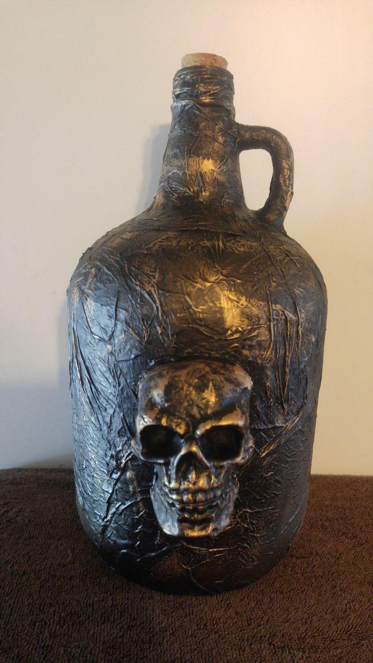 Handmade Decorative Glass Wine Jug by CreativeCraftsbyLee on Etsy
