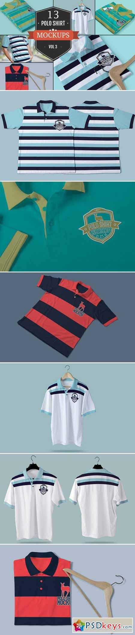 Polo T-Shirt PSD Mockups Vol.3 376027