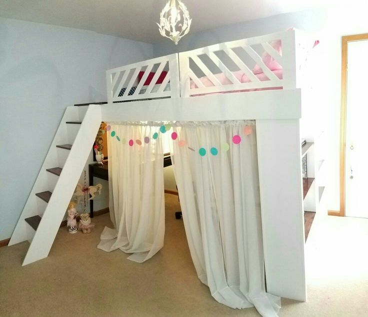 Handmade loft bed for one lucky little girl!