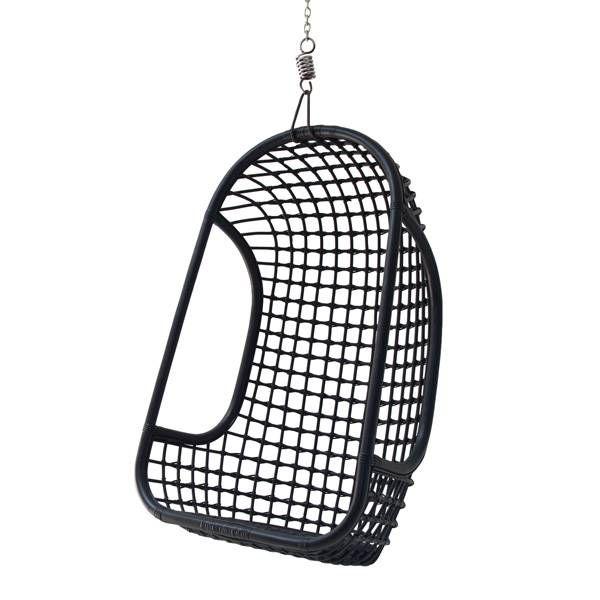 HK-Living Rattan hengende stol svart