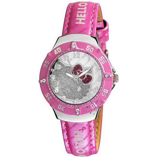 HELLO KITTY Pink Leather Strap HK4000-015
