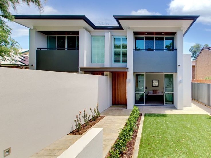rendered, two storey, townhouse, semi-detached, steel, modern, contemporary