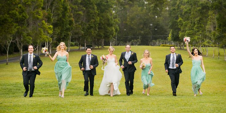 Fun bridal party photos. Mint bridesmaids dresses. ~Sydney wedding photography by Yulia Photography~ www.yuliaphotography.com.au