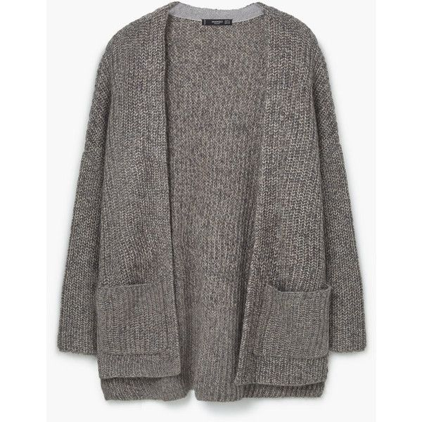 MANGO Chunky Knit Cardigan (€71) ❤ liked on Polyvore featuring tops, cardigans, cable knit cardigan, cardigan top, long sleeve cardigan, mango cardigan and mango tops