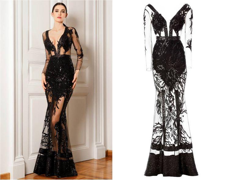 CRISTALLINI #EveningDress #RedCarpet #Sequins #BlackDress